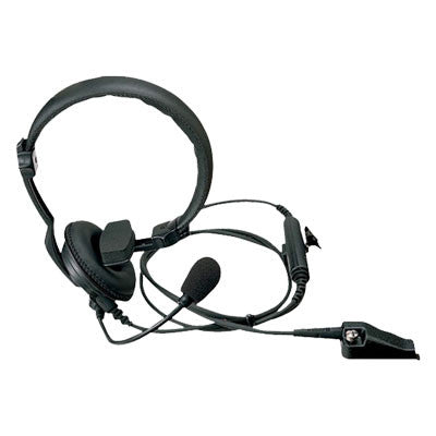 Kenwood KHS-14, Single Muff Headset w/Boom Mic & In-Line PTT