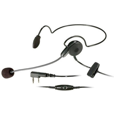 Kenwood KHS-22, Behind-the Head Headset w/Flexible Boom Mic & In-Line PTT