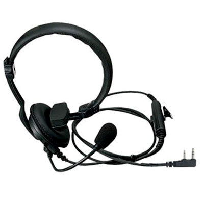 Kenwood KHS-7A, Single Muff Headset w/Boom Mic & In-Line PTT