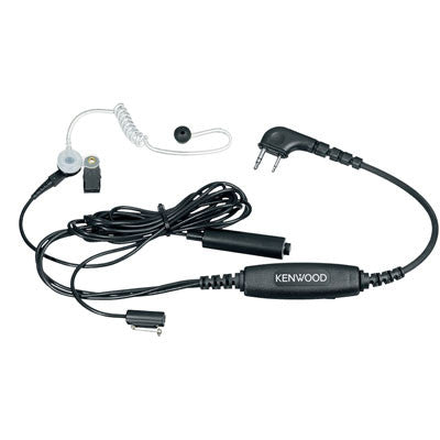 Kenwood KHS-9BL, 3-Wire Palm Mic w/Earphone (Black)