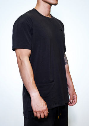Trinity™ Oversized Tee - Faded Black