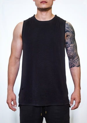 Trinity™ Drop Hem Tank - Faded Black