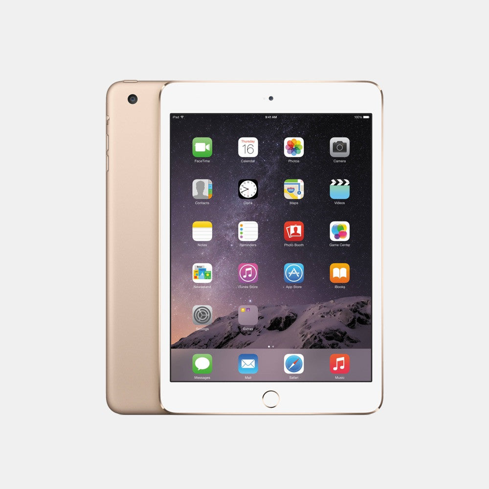Used iPad Mini 3 128GB - Freestyll Refurbished iPads - Gold