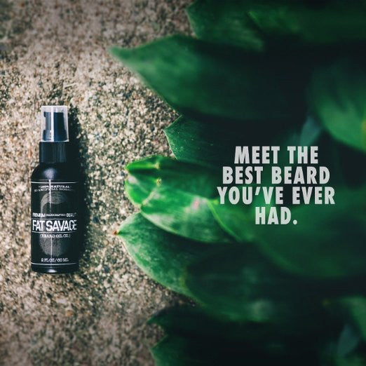 Fat Savage Beard Oil - Fragrance Free