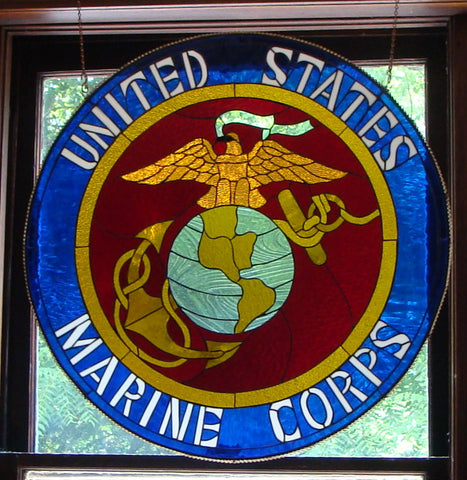 "United States Marine Corps 30"" Stained Glass Pattern. PDF VERSION"