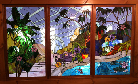 "Orchid Conservatory 89 x 52"" Stained Glass Pattern. PDF VERSION"
