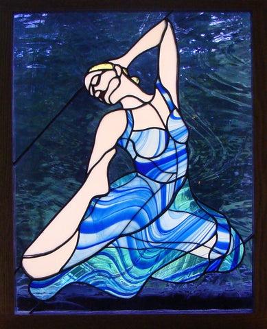 "Double Panel Ballet 17 x 22"" Stained Glass Pattern. PDF VERSION"