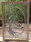 "Windy Tree 20 x 30"" Stained Glass Pattern. PDF VERSION"