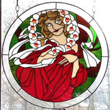 "Alphonse Mucha 12 December 24"" Stained Glass Pattern. PDF VERSION"