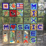 GLASS ON GLASS MOSAIC KIT.  Mixie Mini. Opaque Colors.