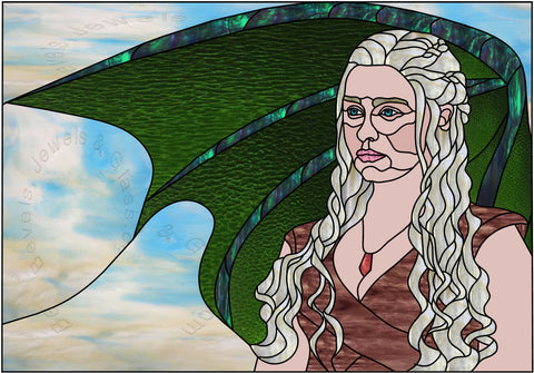 "Kahleesi Game of Thrones 35 x 24"" Stained Glass Pattern PDF VERSION"