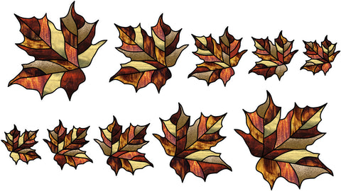 Leaves Maple FREE Stained Glass Pattern. PDF VERSION