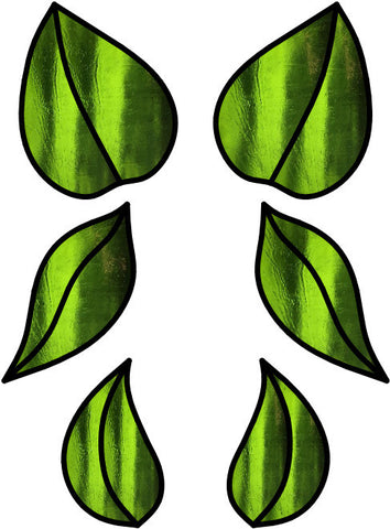 Leaves FREE Stained Glass Pattern. PDF VERSION