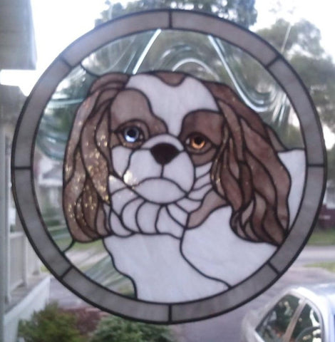 Your Pet Custom Stained Glass Pattern HARD COPY PRINTED VERSION