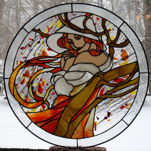 "Alphonse Mucha 11 November 24"" Stained Glass Pattern. PDF VERSION"