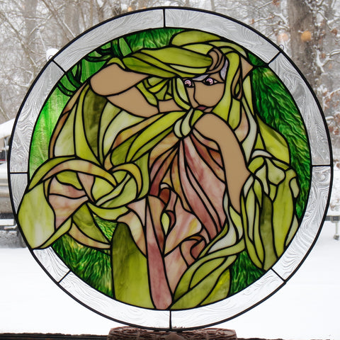 "Alphonse Mucha 3 March 24"" Stained Glass Pattern  PDF VERSION"