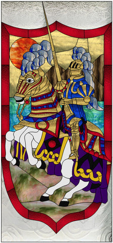 "Sir Glassalot Knight Door 27.5 x 59.5"" Stained Glass Pattern  PDF VERSION"