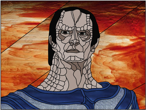 "Star Trek DS9 Gul Dukat 32 x 24"" Stained Glass Pattern. PDF VERSION"