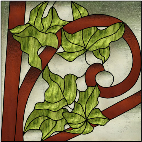 "Trellis Ivy 18"" Stained Glass Pattern. PDF VERSION"