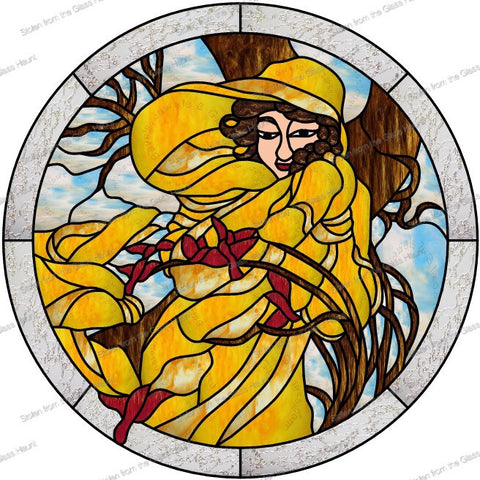 "Alphonse Mucha 2 February 24"" Stained Glass Pattern  PDF VERSION"