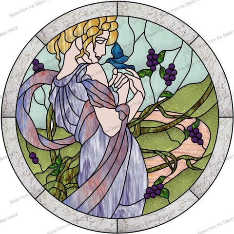 "Alphonse Mucha 5 May 24"" Stained Glass Pattern PDF VERSION"