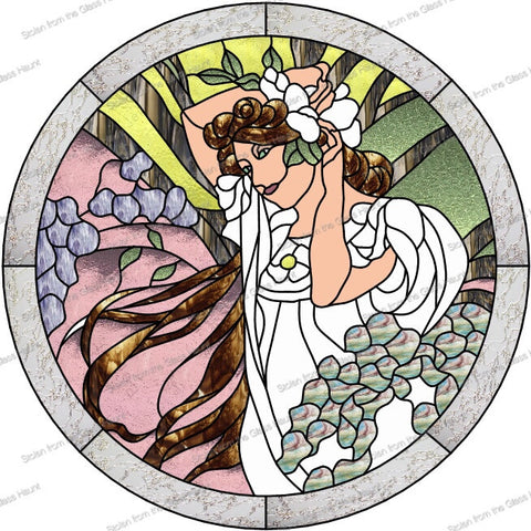 "Alphonse Mucha 6 June 24"" Stained Glass Pattern PDF VERSION"
