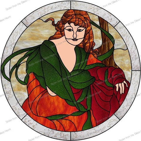 "Alphonse Mucha 10 October 24"" Stained Glass Pattern. PDF VERSION"