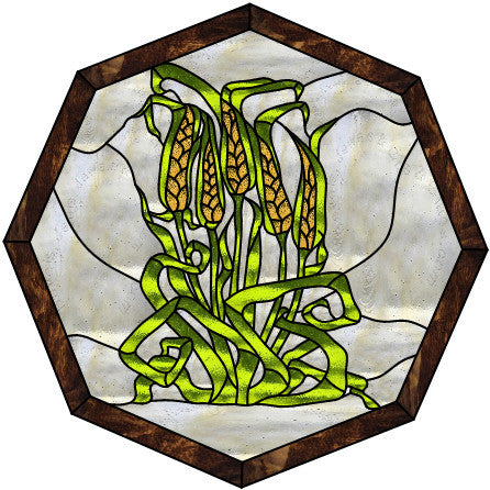 "Wheat 20"" Stained Glass Pattern. PDF VERSION"