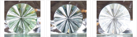 35mm Fluted Round Glass Jewel