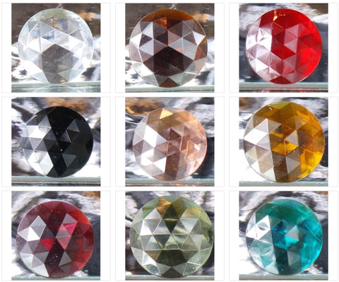 15MM ROUND FACETED GLASS JEWEL