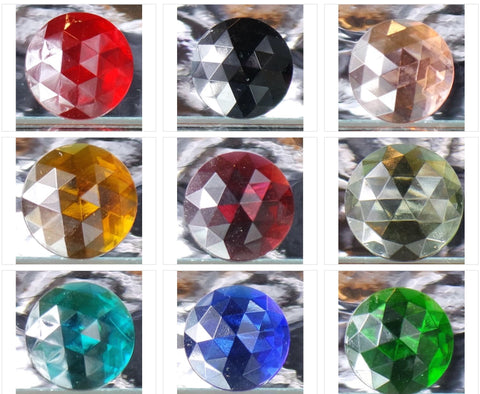 20MM ROUND FACETED GLASS JEWEL