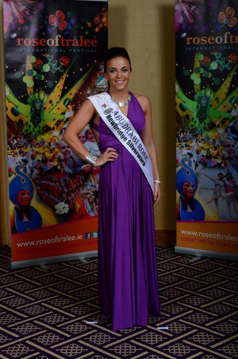 The Rose of Tralee Ireland and Abu Dhabi Dresses by Plume