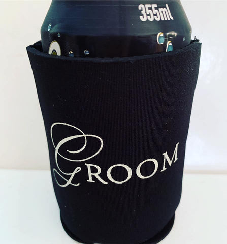 Groom drinks ( stubby ) holder.