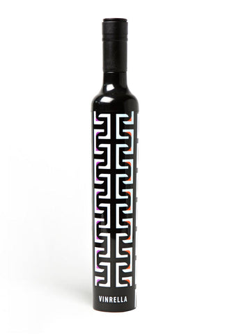 Geometric Black Wine Bottle