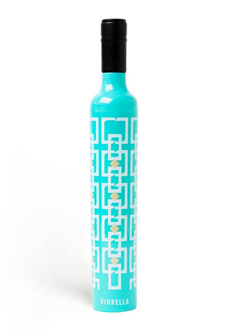 Vintage Turquoise Wine Bottle Umbrella
