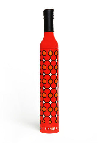 Red Deco Wine Bottle Umbrella