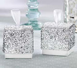 Gold or Silver Glitter Favour Box