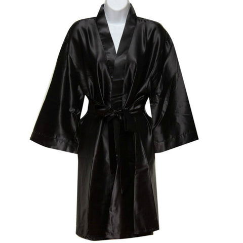 Black Satin Robe