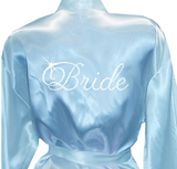 "Pale Blue Robe with Crystal ""Bride"""