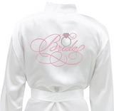 "White Robe with Pink Embroidery ""Bride"" and Ring"