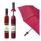 Burgundy Labelled Wine Bottle Umbrella