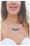 Crystal Beams Turquoise Necklace