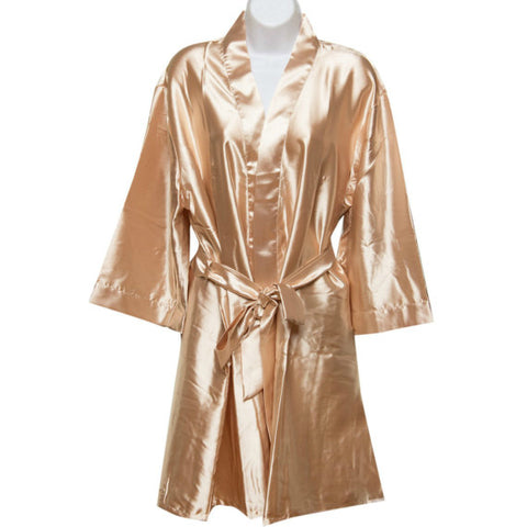 Satin Robe in Champagne