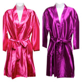 Plain Robes. Featured colours Hot Pink and Plum