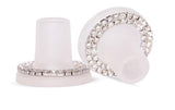 Cur Crystal Removable Rings Available in size Petite, Small or Medium