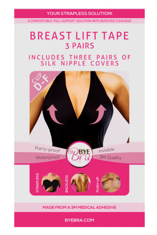 ByeBra Breast Lift Tape Cup Size D - F with silk nipple covers