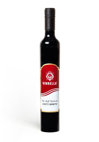 Misty Spirits Labelled Wine Bottle Umbrella