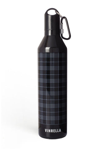 Black / Gray Plaid Water Bottle Umbrella