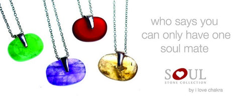 Chakra Soul Stone Collection on Silver Chains