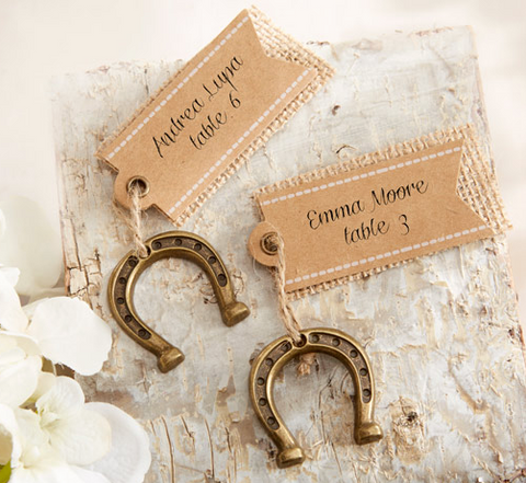 Luck Horse Shoe Place Card Holders